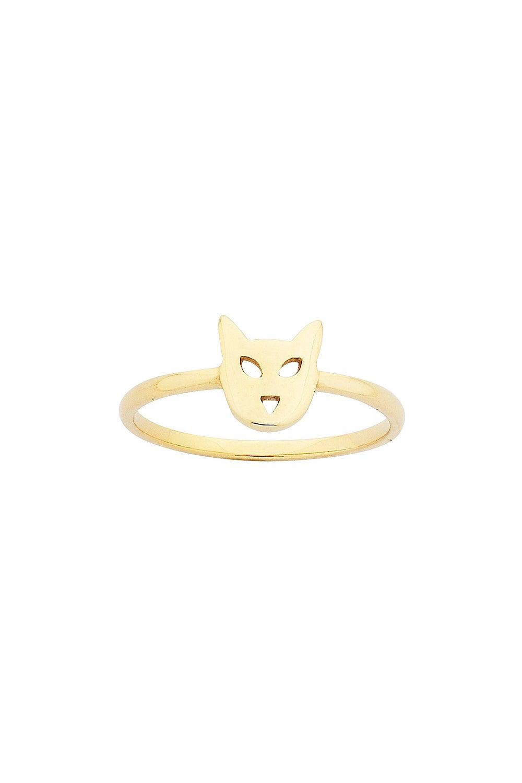 Mini Cat Ring Gold