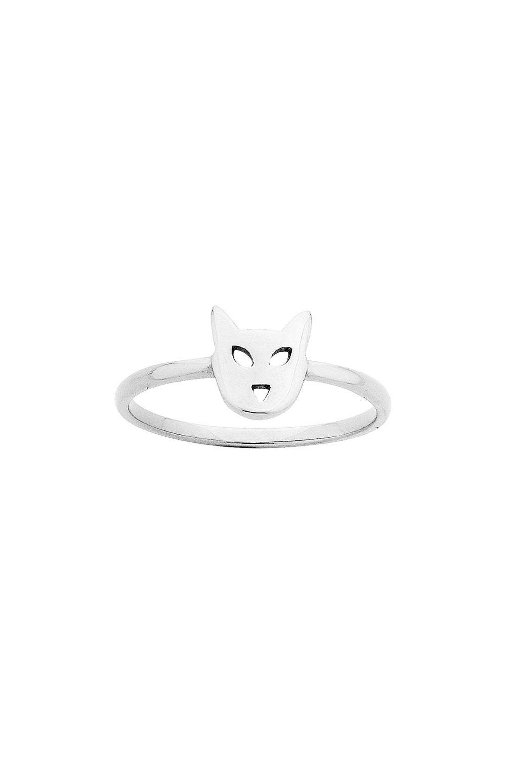Mini Cat Ring Silver