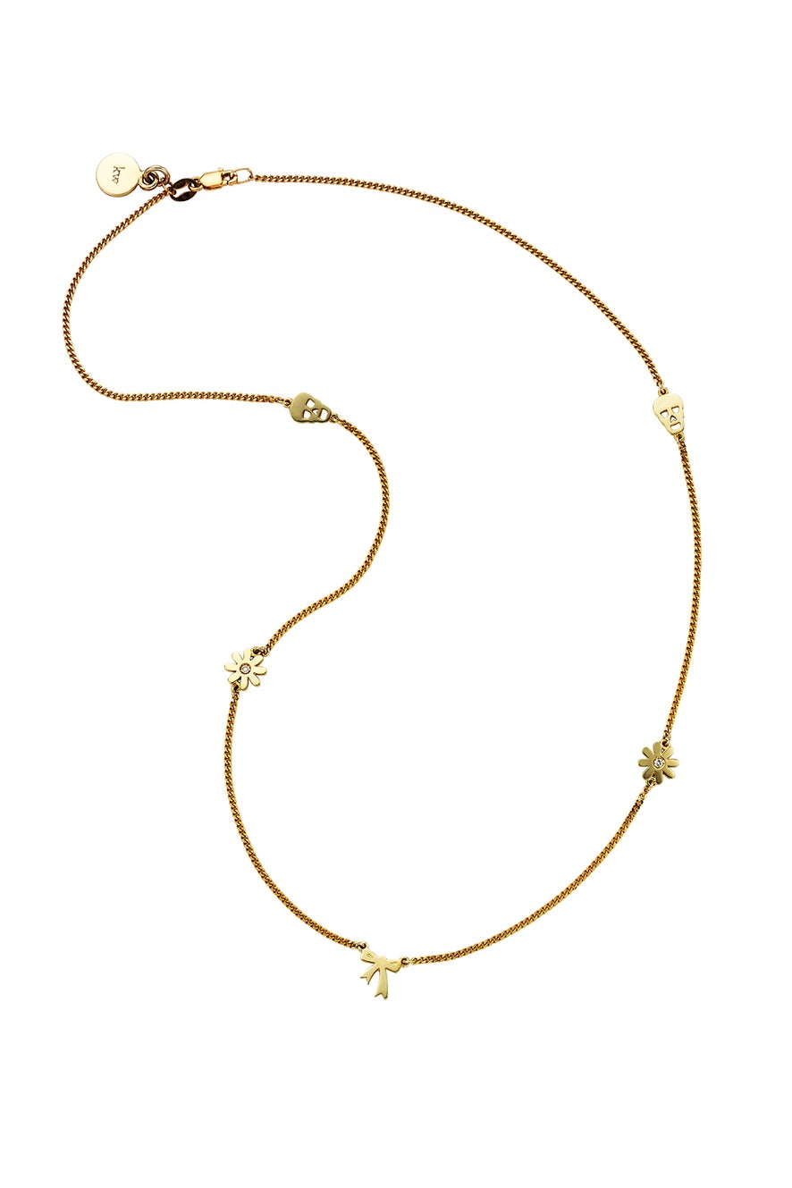 Mini Charm A Necklace Gold