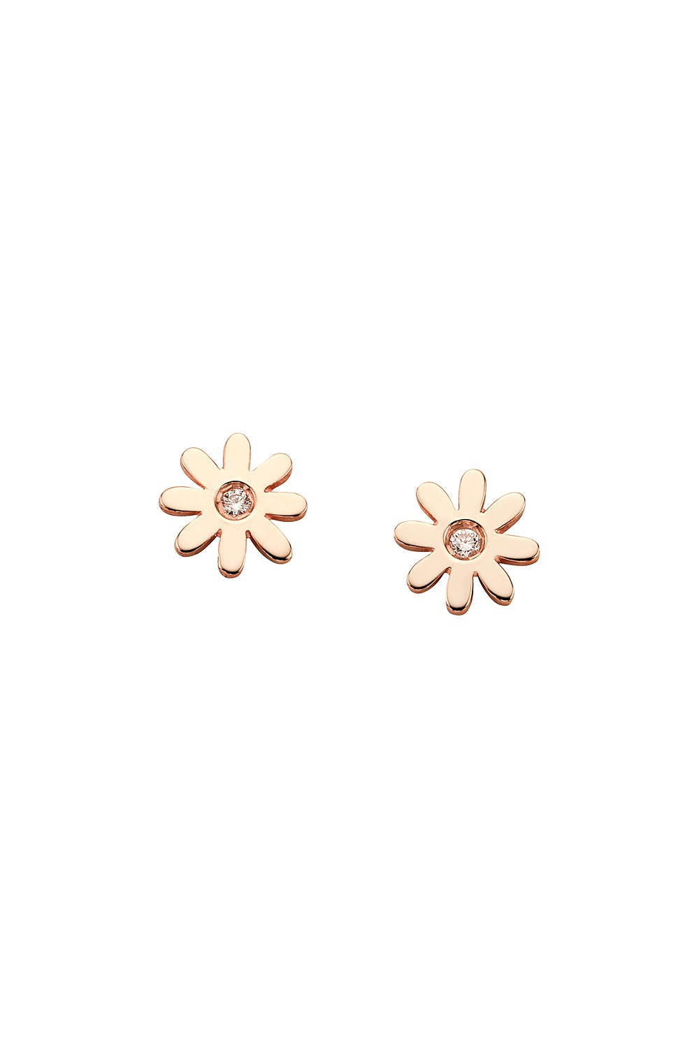 Mini Daisy Studs Rose Gold