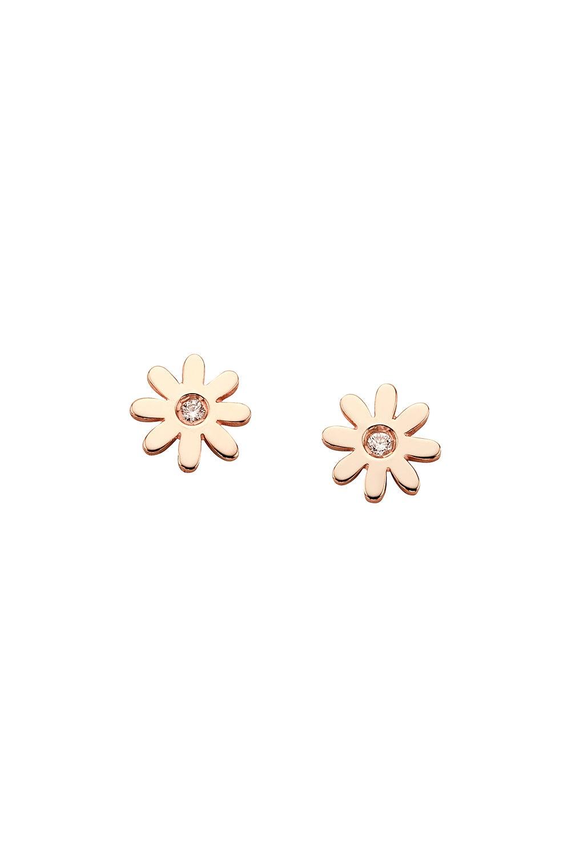 Mini Daisy Studs Rose Gold