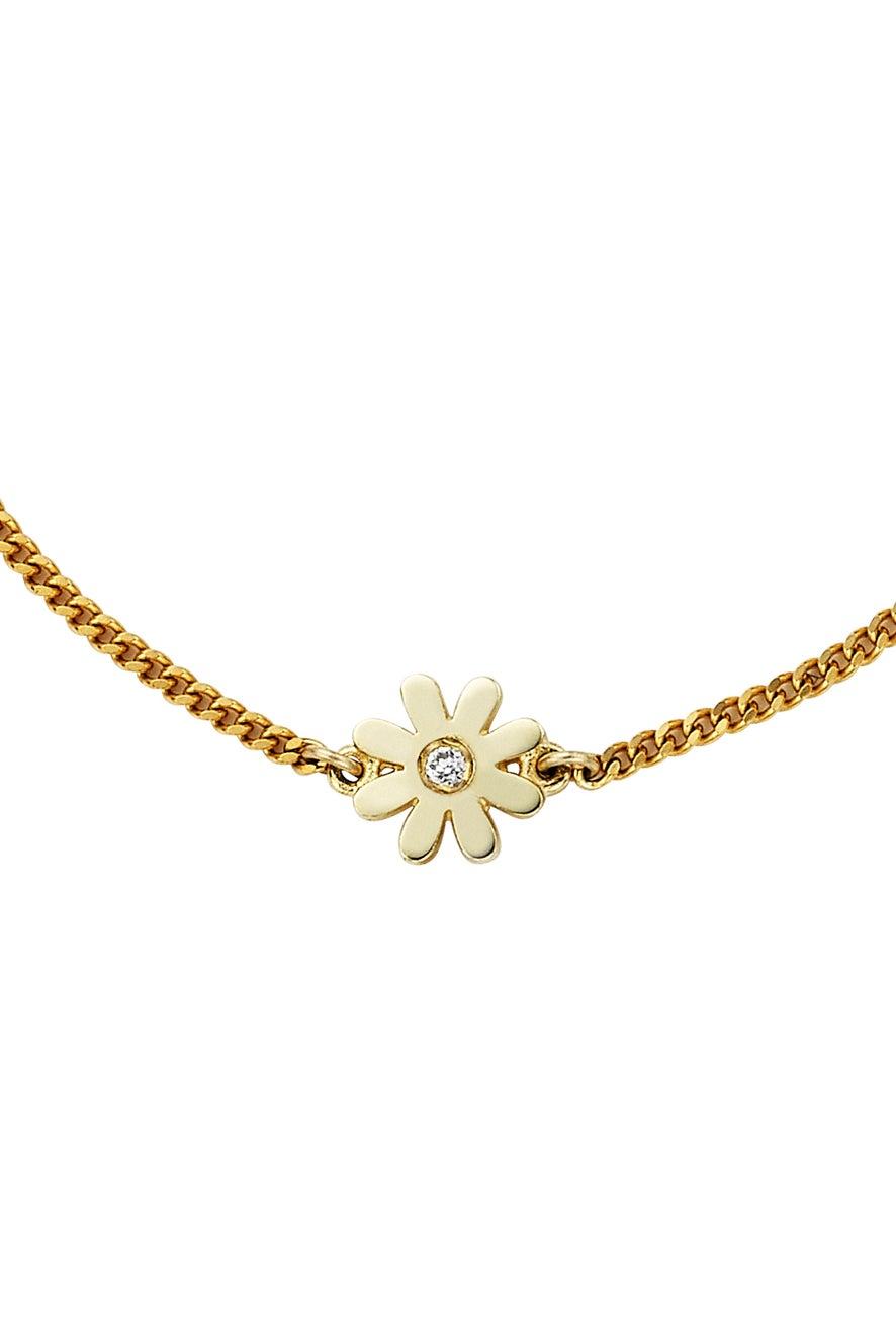 Mini Daisy Necklace Gold