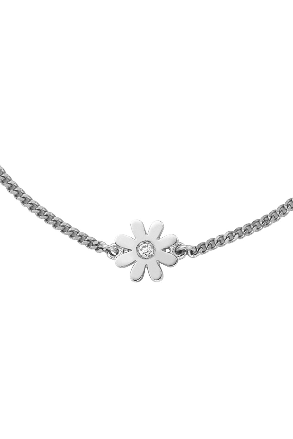Mini Daisy Necklace Silver