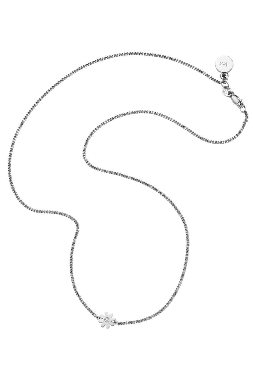 Mini Daisy Necklace Silver