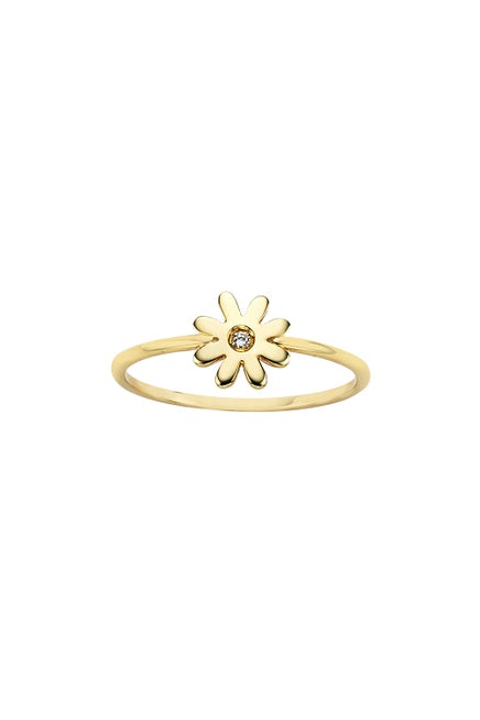 Mini Daisy Ring Gold