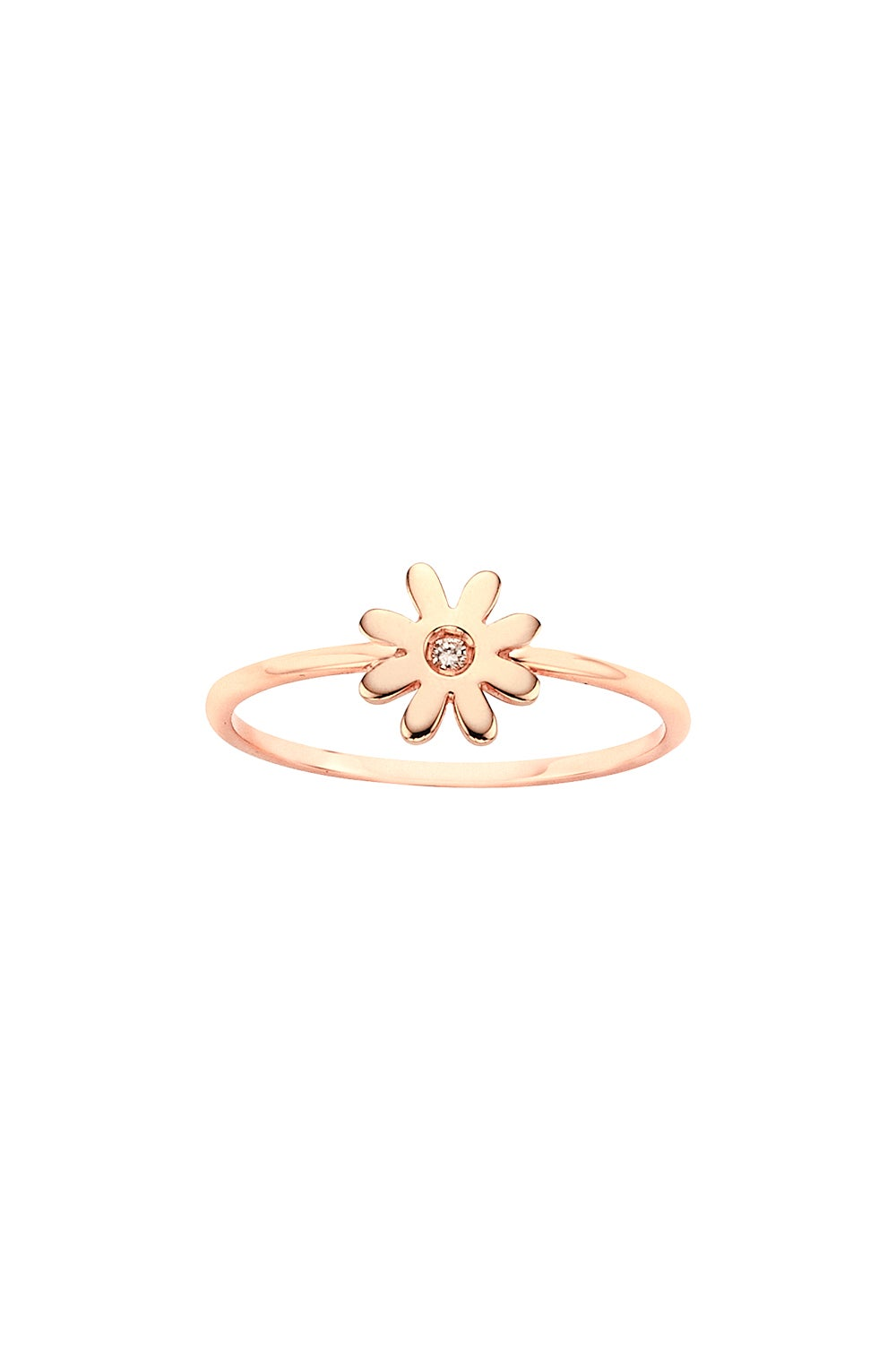 Mini Daisy Ring Rose Gold