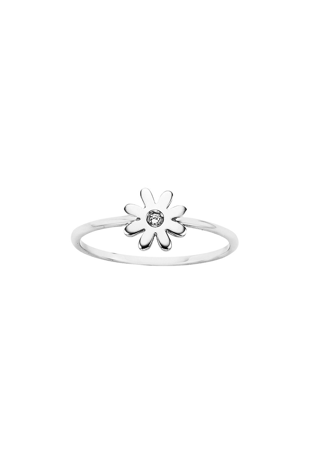Mini Daisy Ring Silver