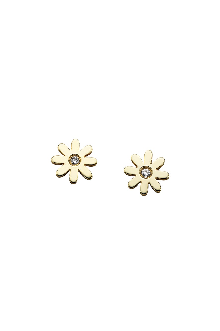 Mini Daisy Studs Gold