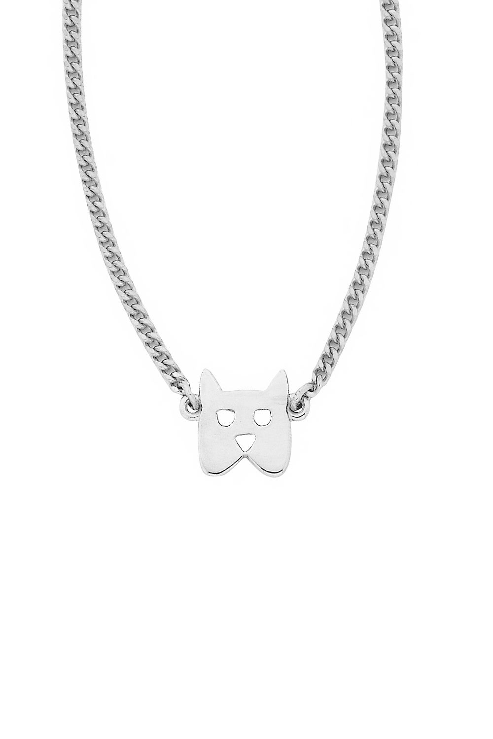 Mini Dog Necklace Silver