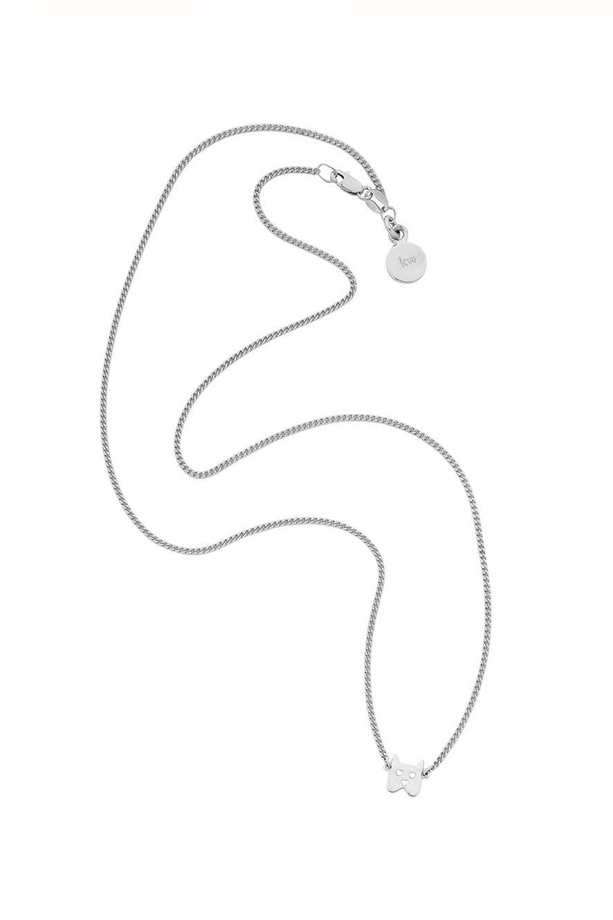 Mini Dog Necklace Silver