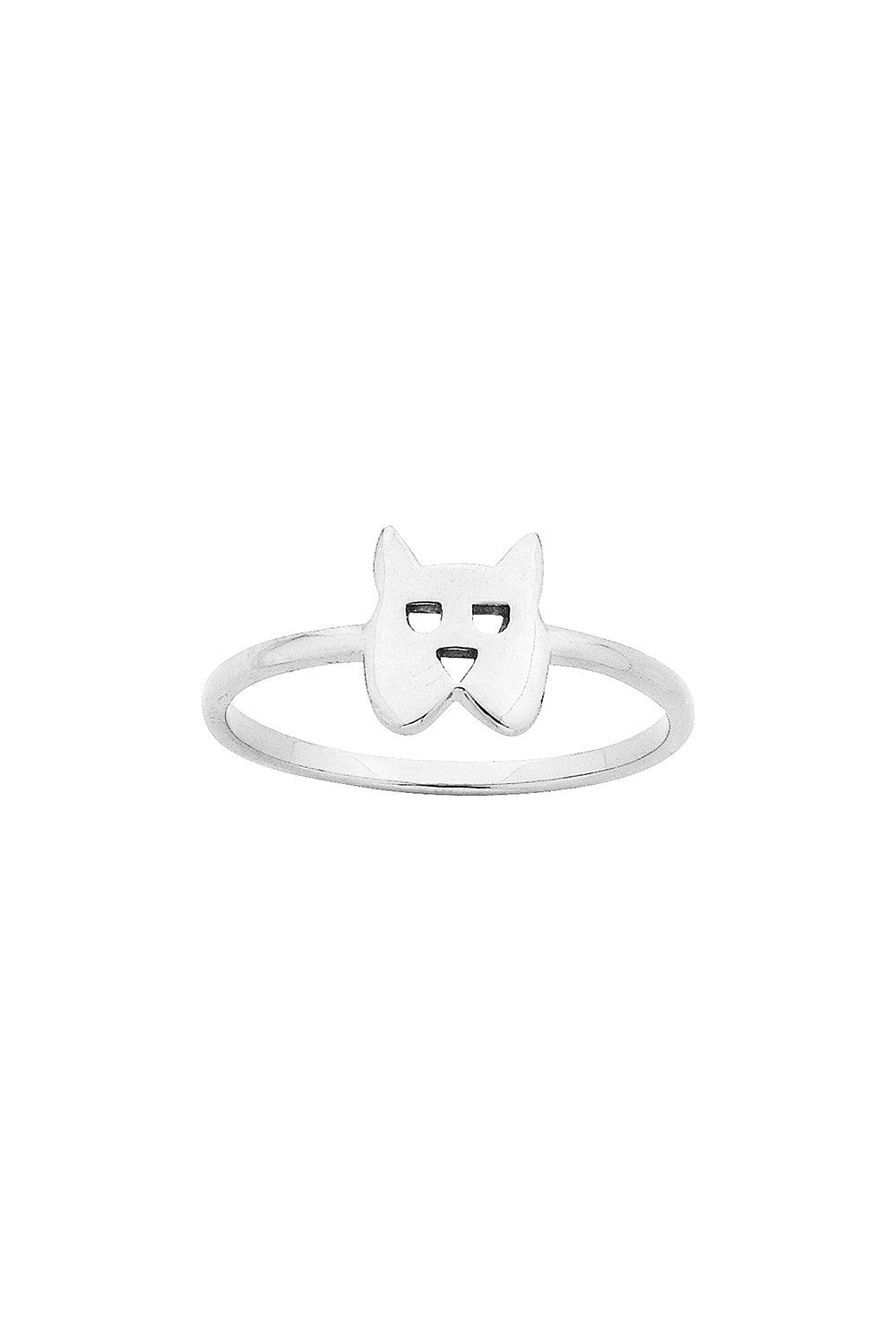 Mini Dog Ring Silver
