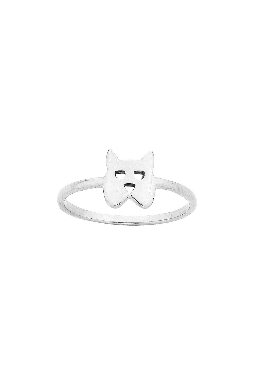 Mini Dog Ring Silver