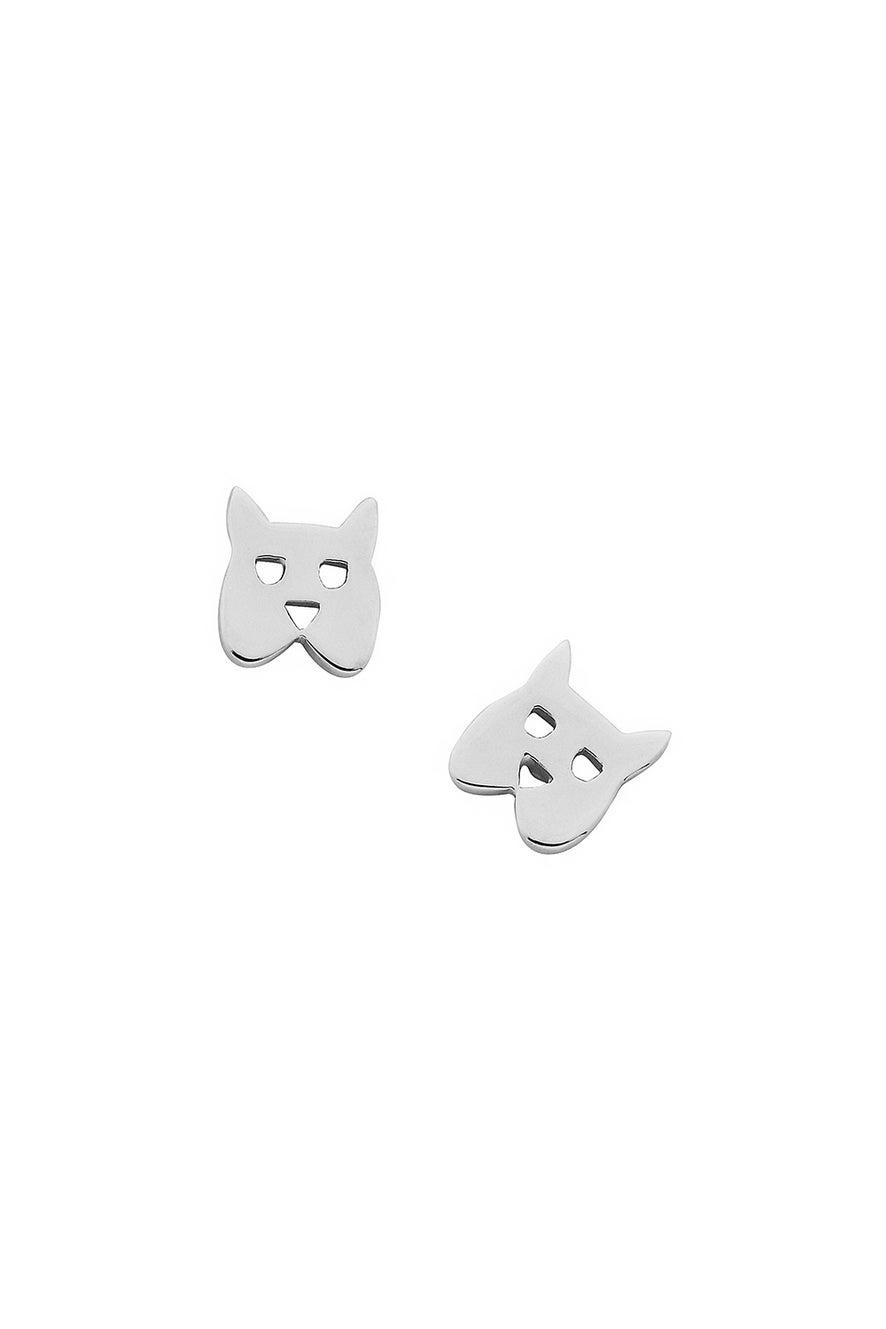 Mini Dog Studs Silver