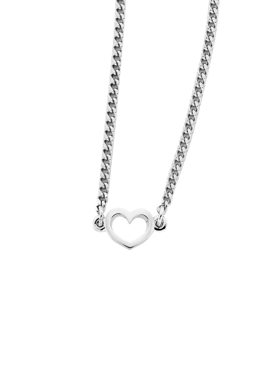 Mini Heart Necklace Silver