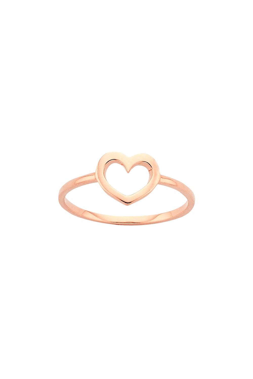 Mini Heart Ring Rose Gold