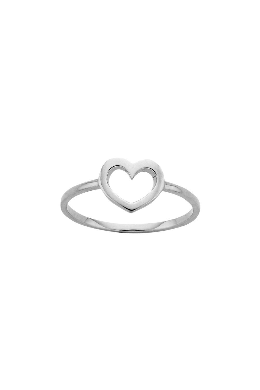 Mini Heart Ring Silver
