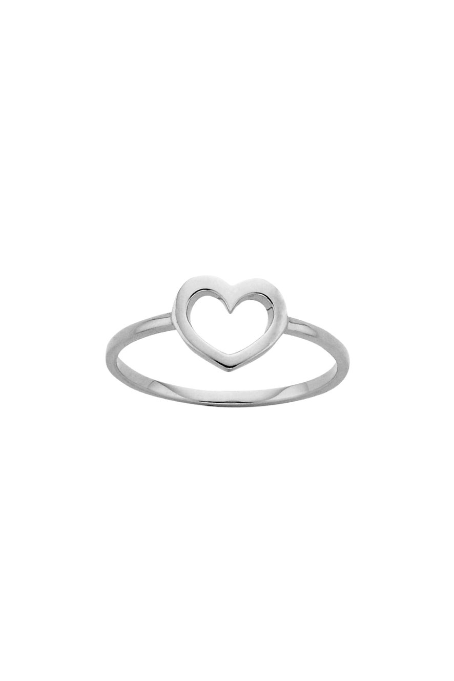 Mini Heart Ring Silver