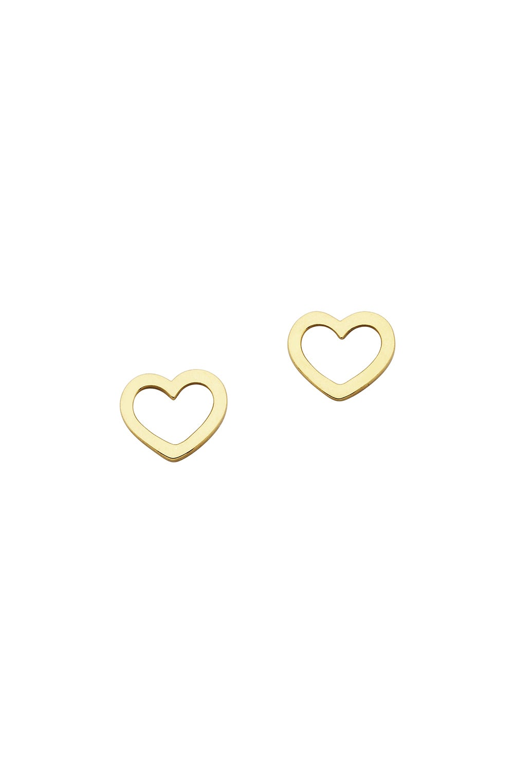 Mini Heart Studs Gold
