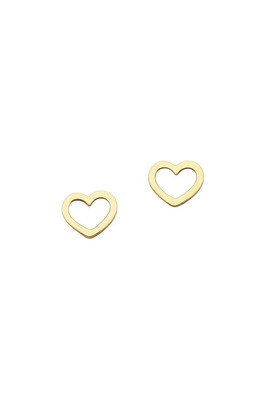 Mini Heart Studs Gold