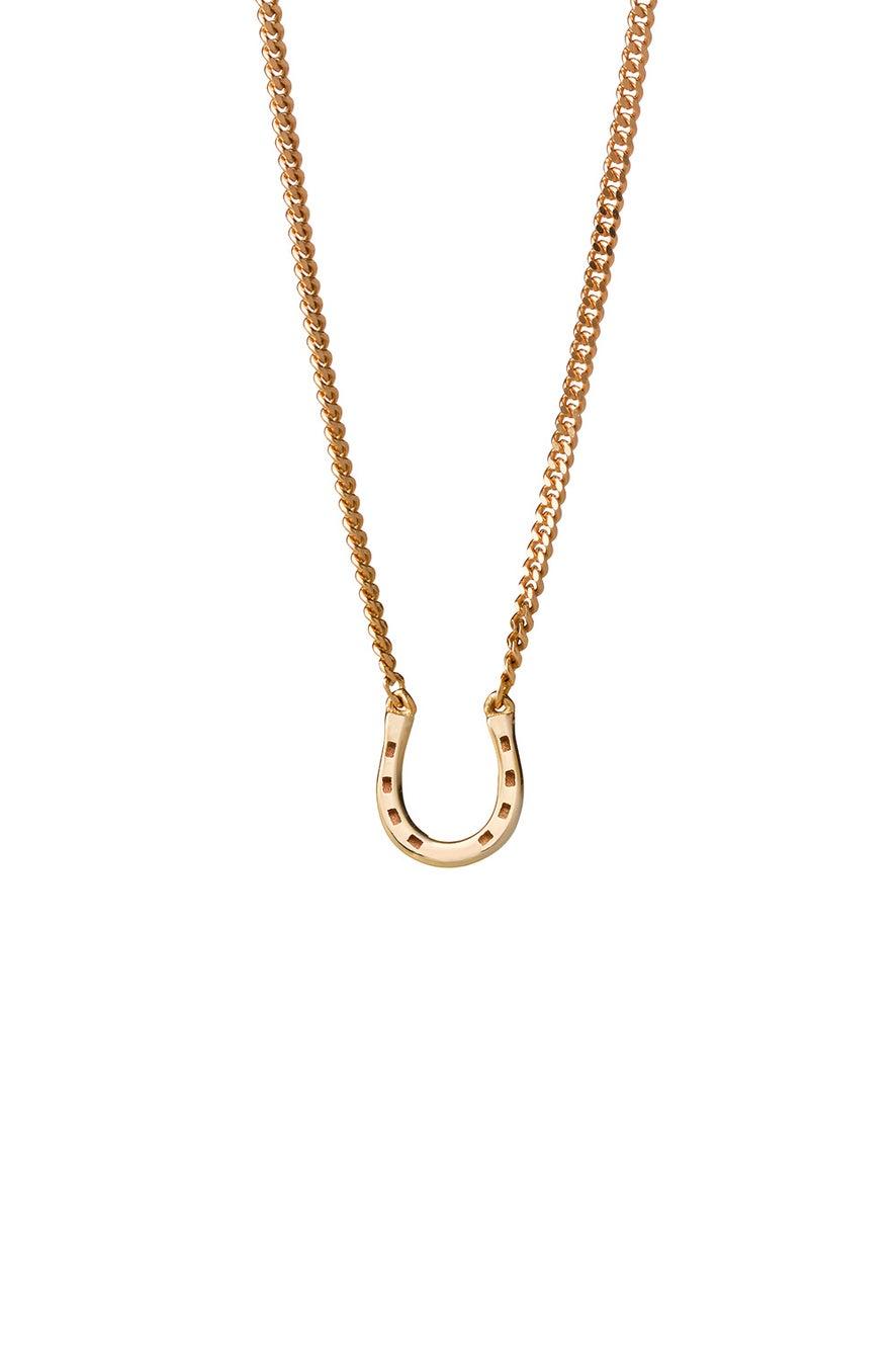 Mini Horseshoe Necklace Gold