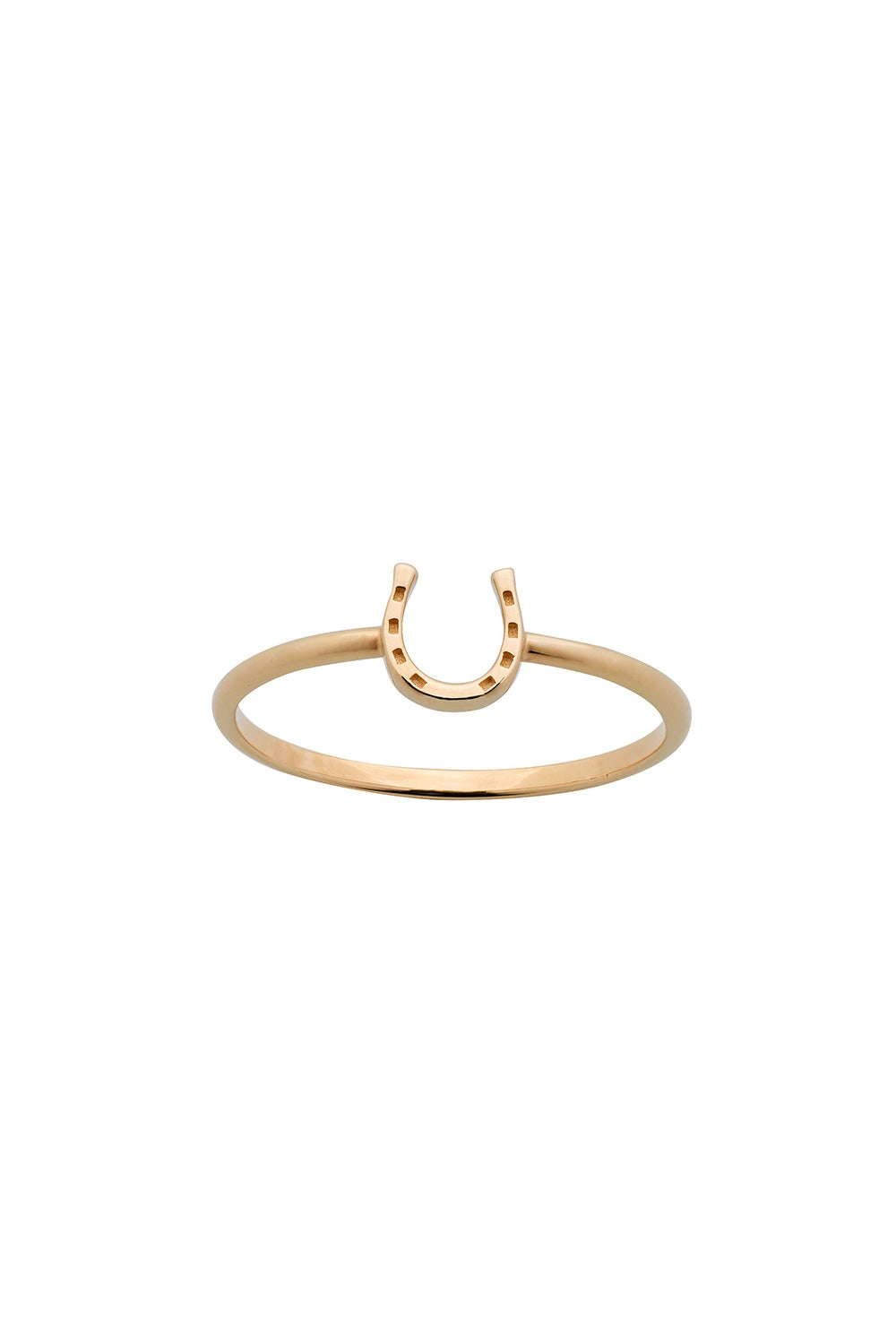Mini Horseshoe Ring Gold