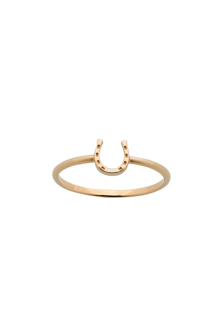 Mini Horseshoe Ring Gold