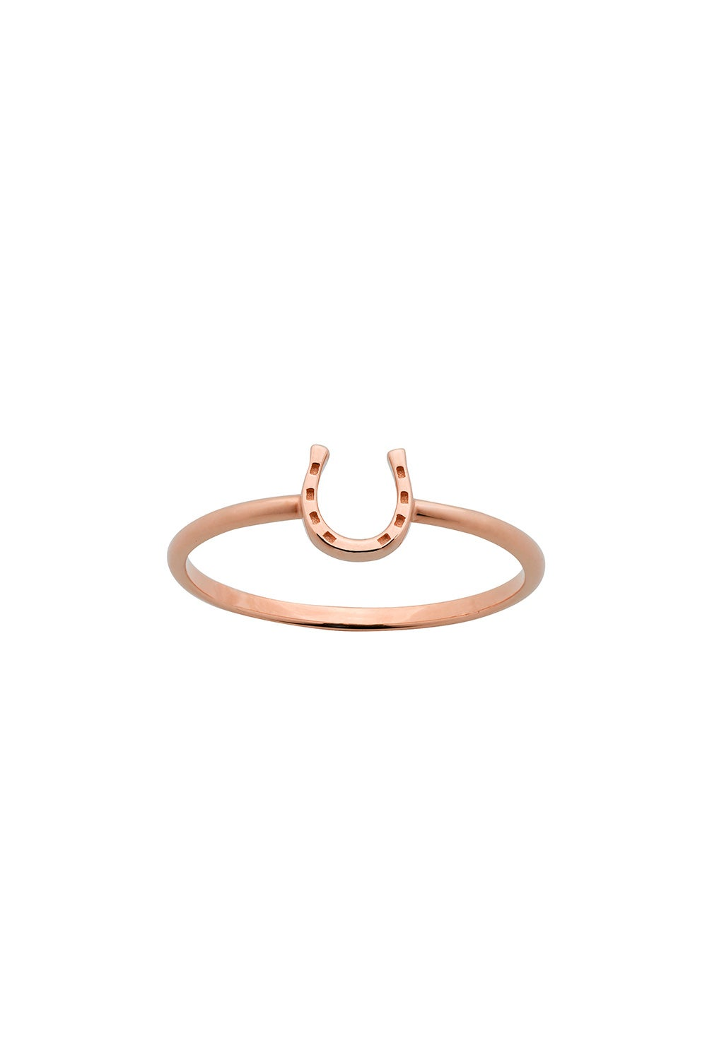 Mini Horseshoe Ring Rose Gold