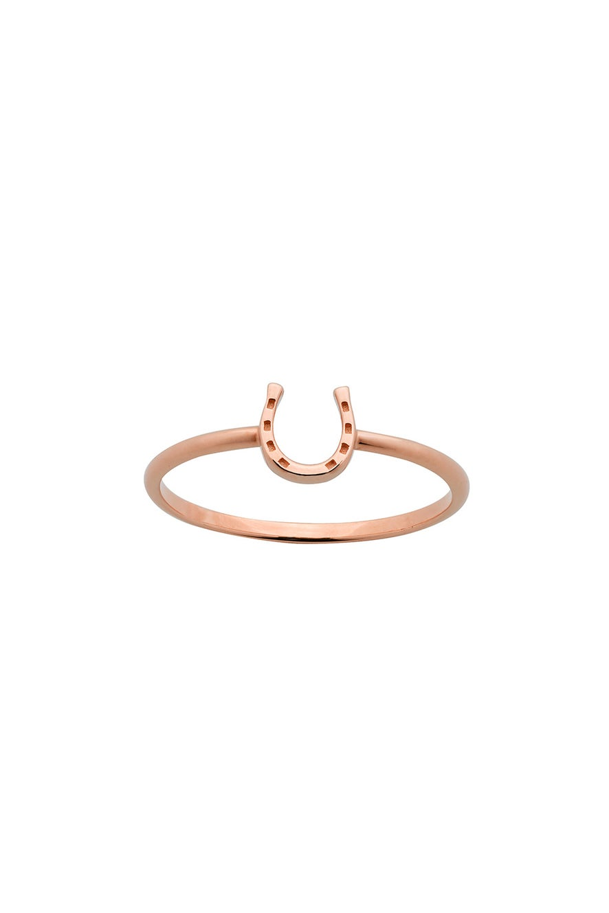 Mini Horseshoe Ring Rose Gold