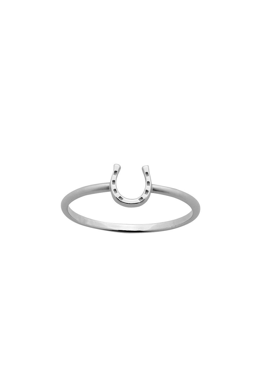 Mini Horseshoe Ring Silver