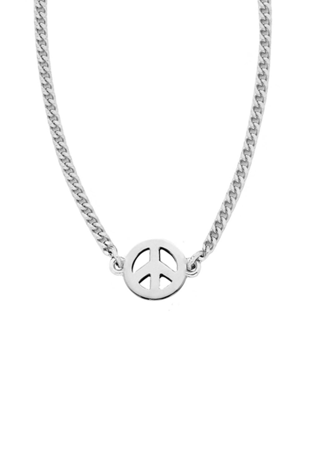 Mini Peace Necklace Silver