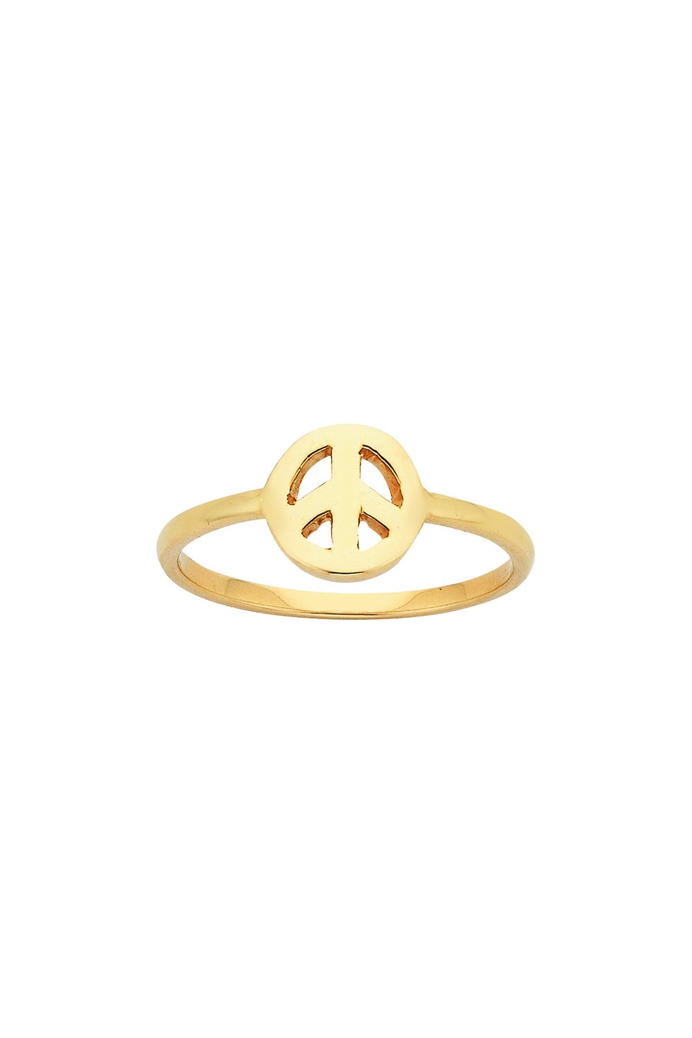 Mini Peace Ring Gold