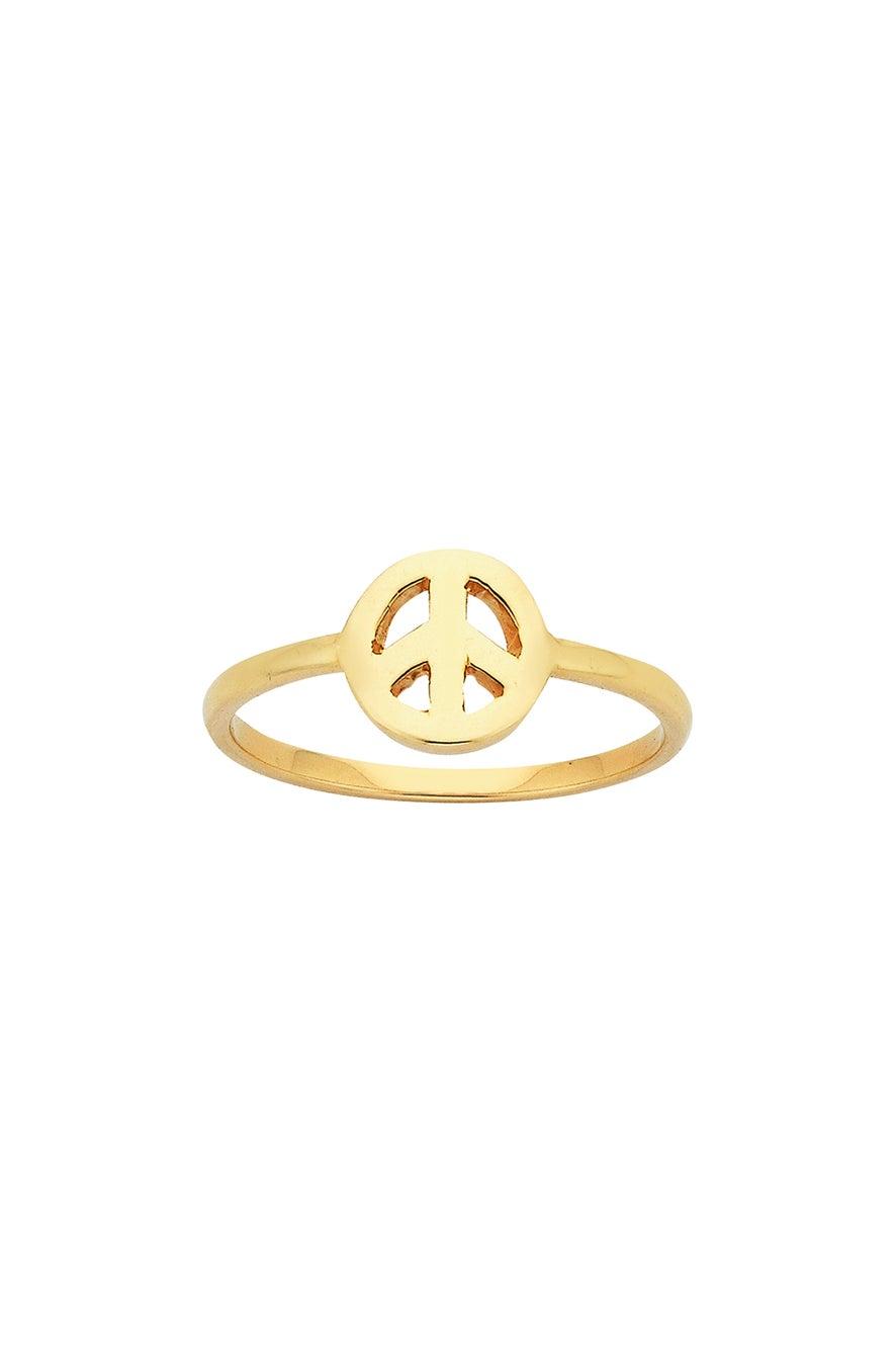 Mini Peace Ring Gold