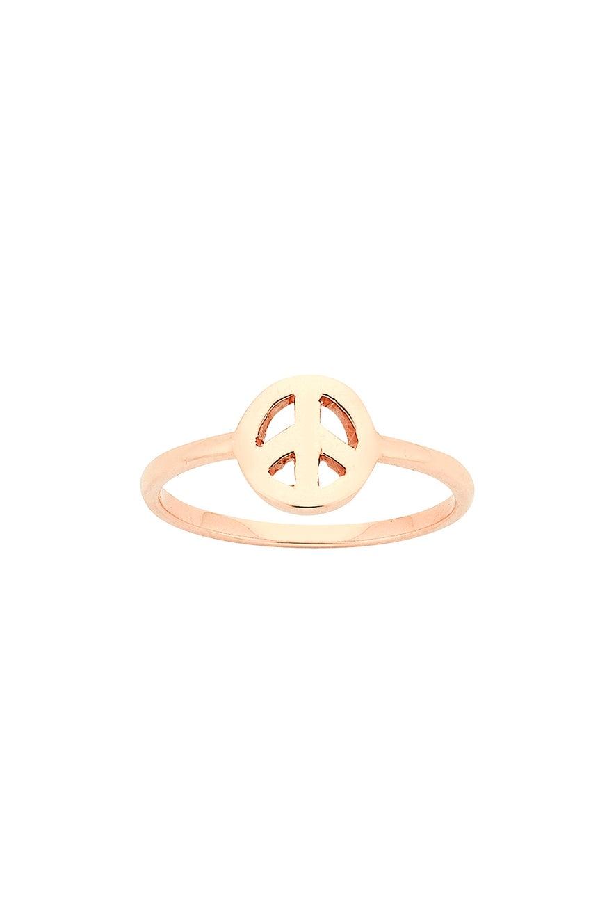 Mini Peace Ring Rose Gold