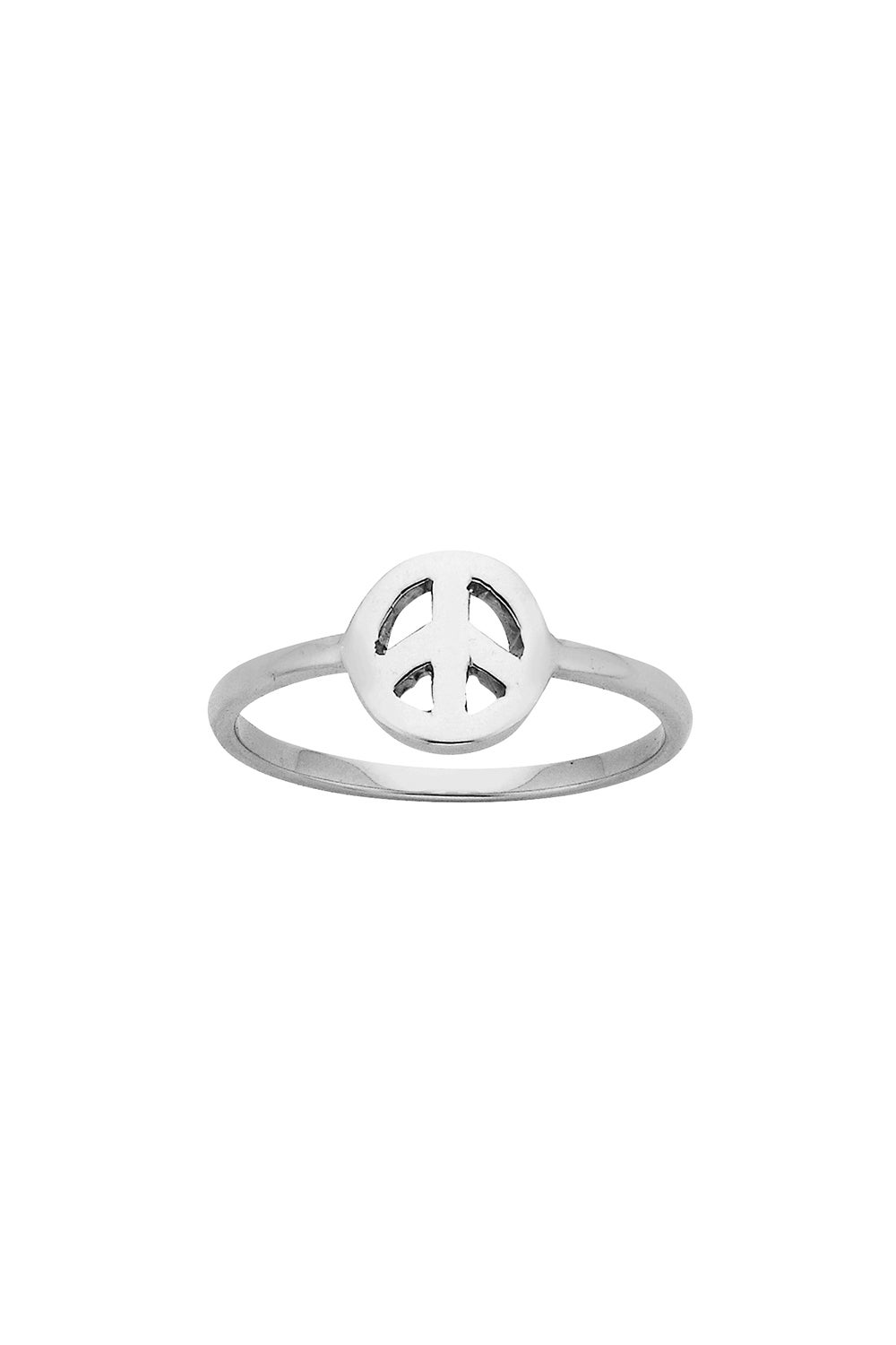 Mini Peace Ring Silver