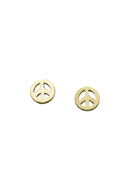 Mini Peace Studs Gold