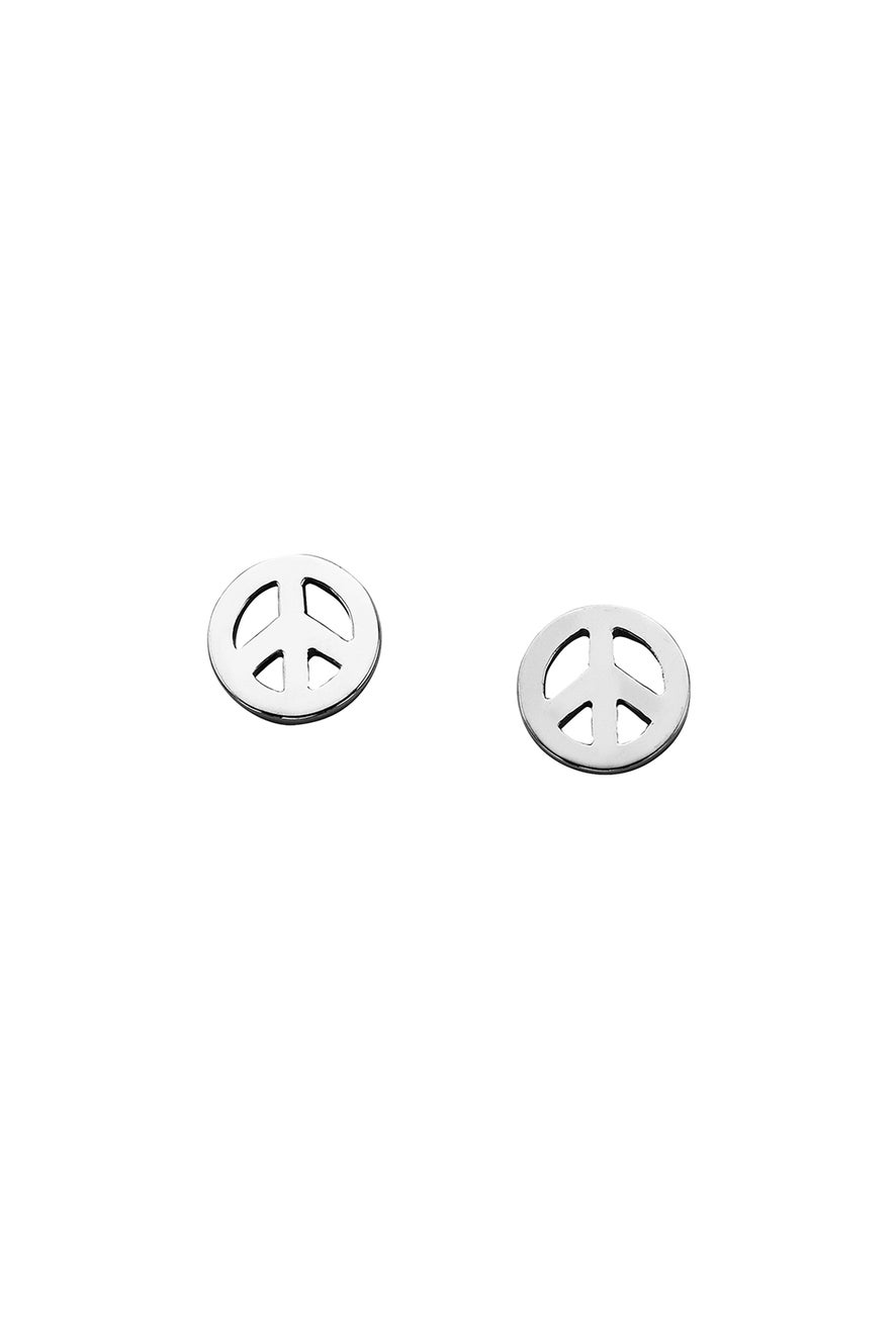 Mini Peace Studs Silver