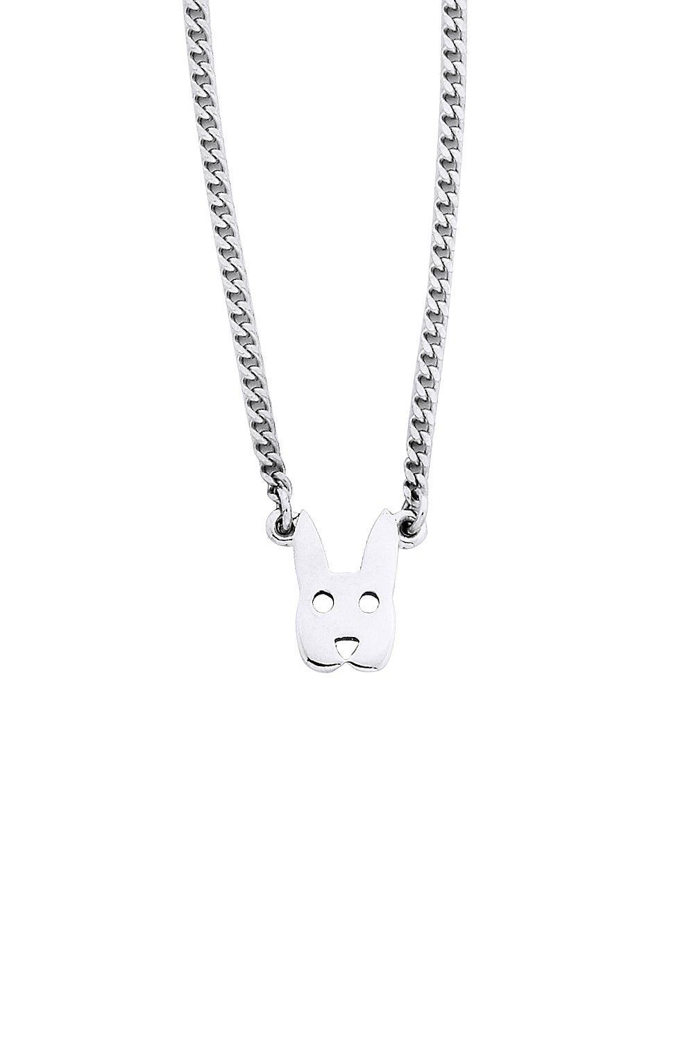 Mini Rabbit Necklace Silver