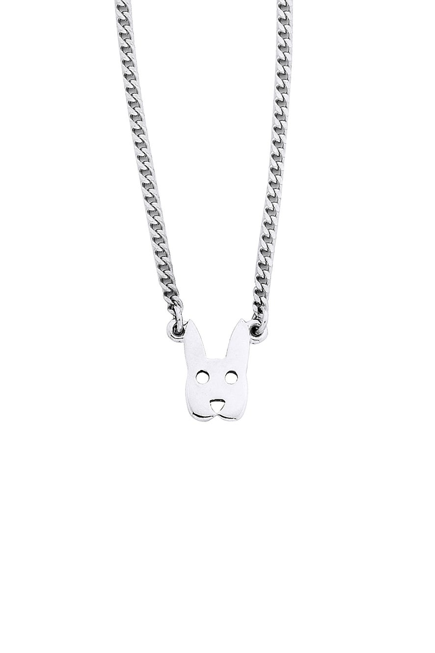 Mini Rabbit Necklace Silver