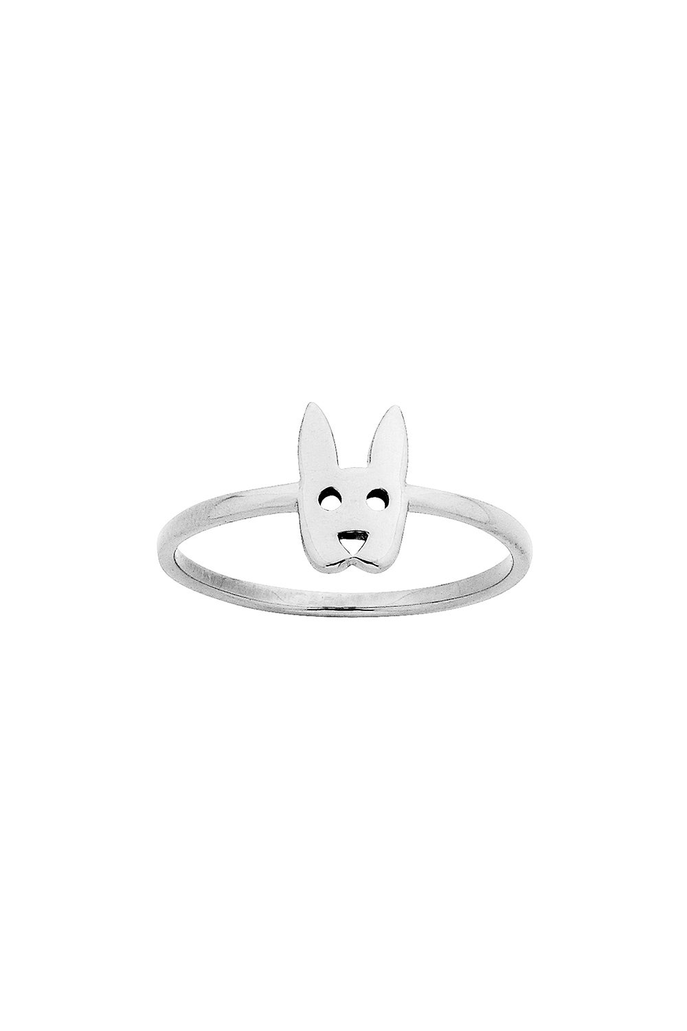 Mini Rabbit Ring Silver