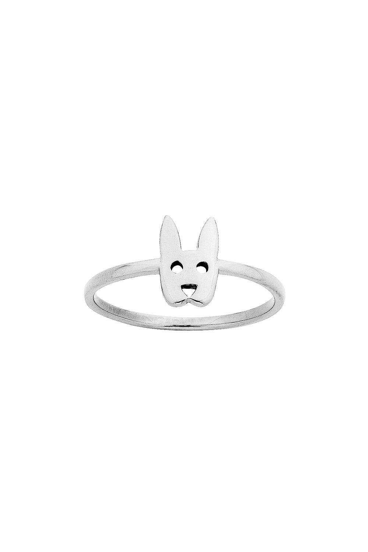 Mini Rabbit Ring Silver