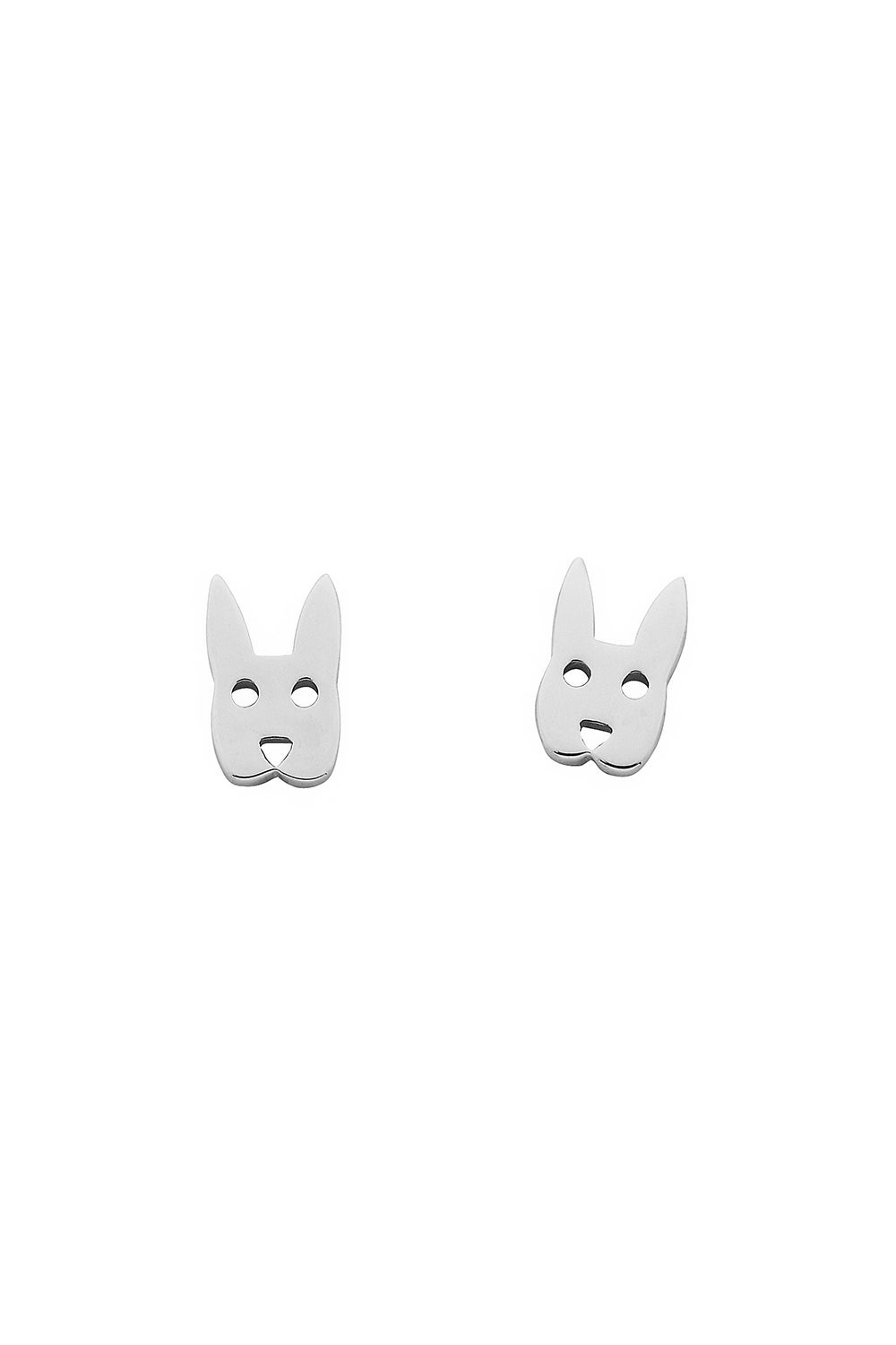 Mini Rabbit Studs Silver