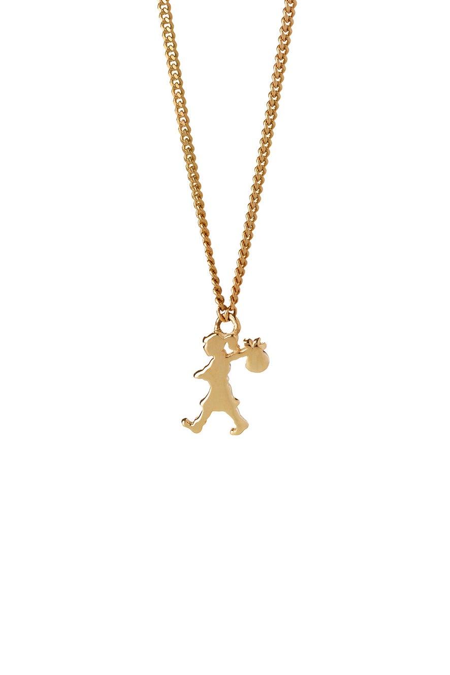 Mini Runaway Girl Necklace Gold