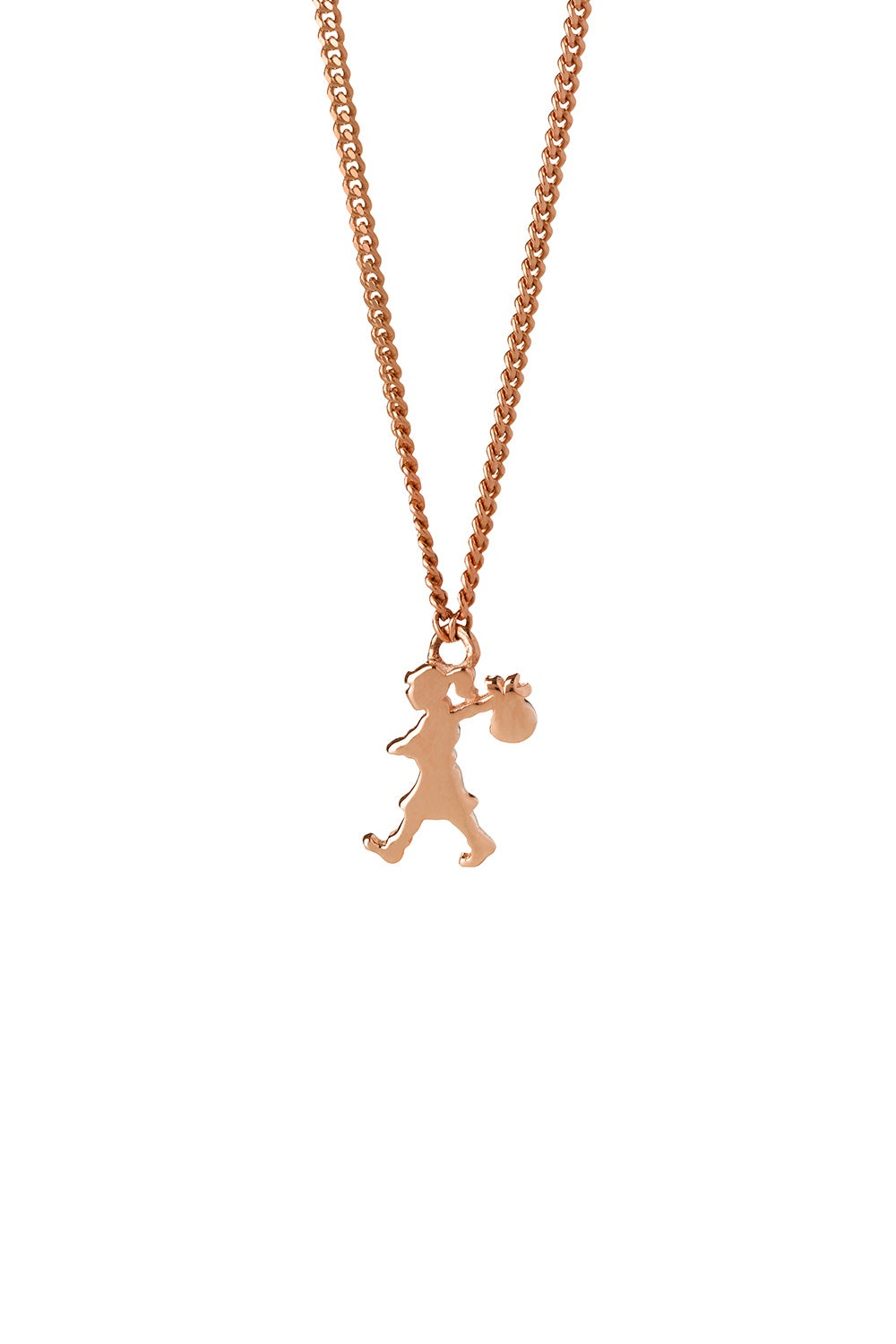 Mini Runaway Girl Necklace Rose Gold