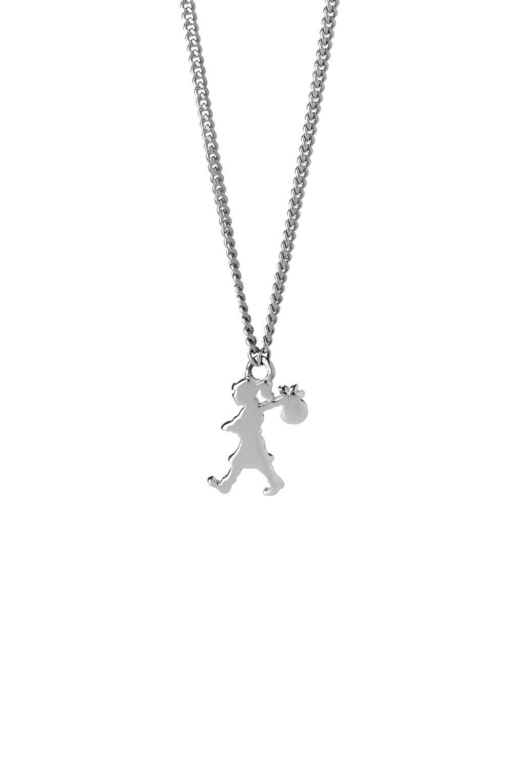 Mini Runaway Girl Necklace Silver