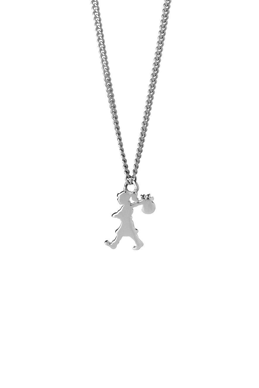 Mini Runaway Girl Necklace Silver