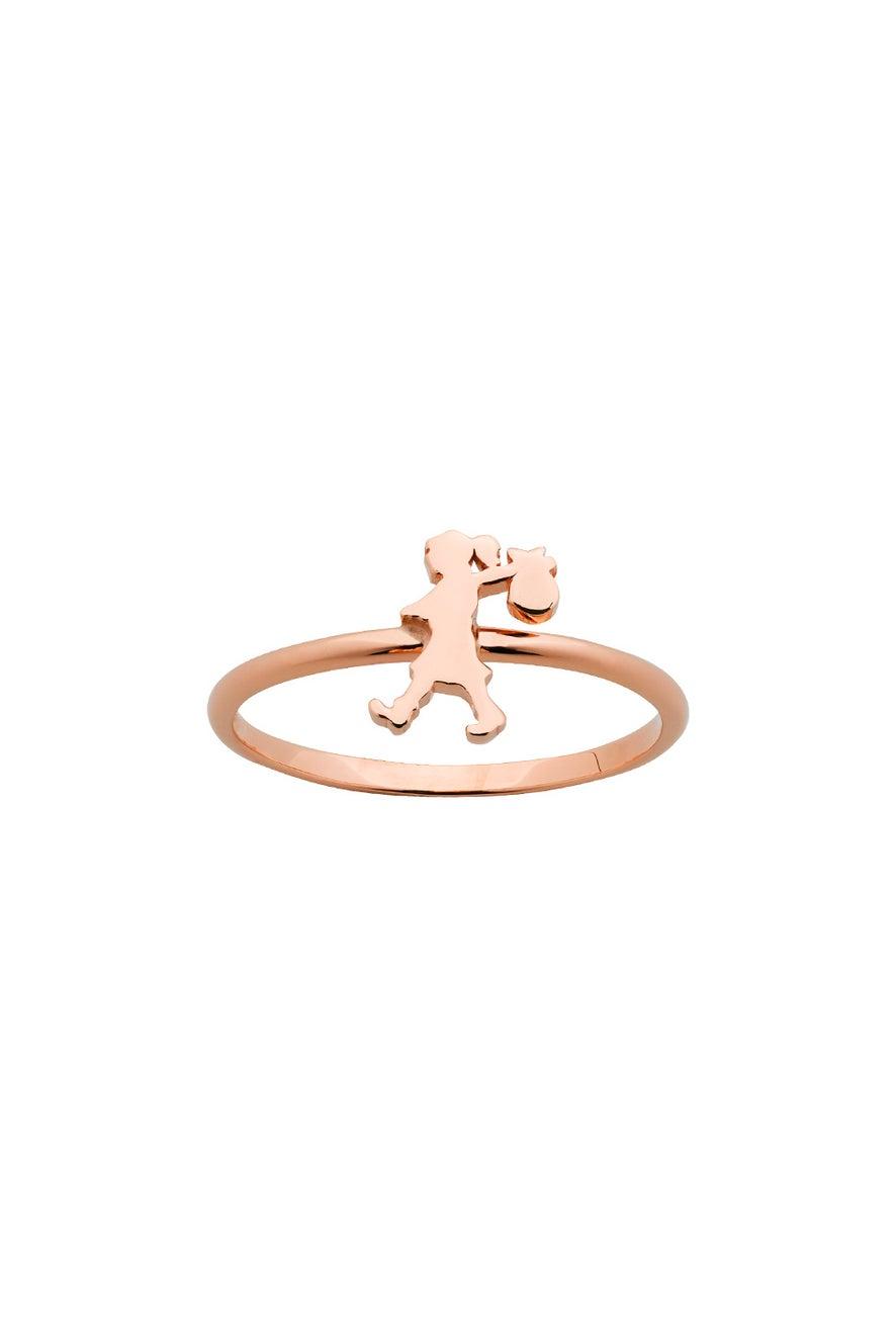 Mini Runaway Girl Ring Rose Gold