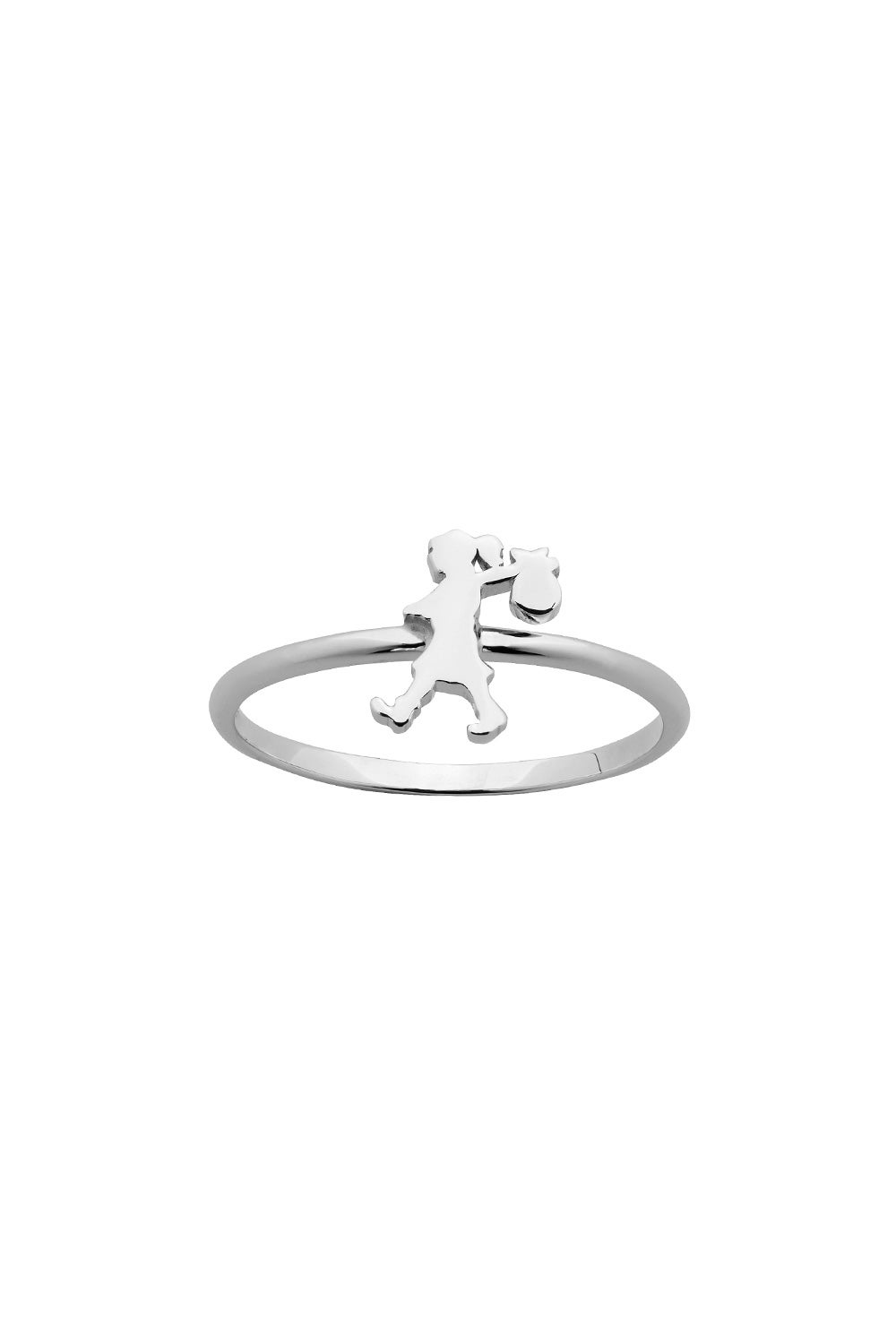 Mini Runaway Girl Ring Silver