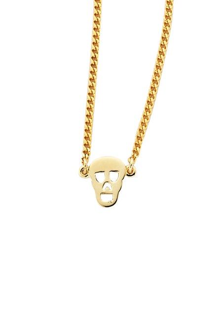 Mini Skull Necklace Gold