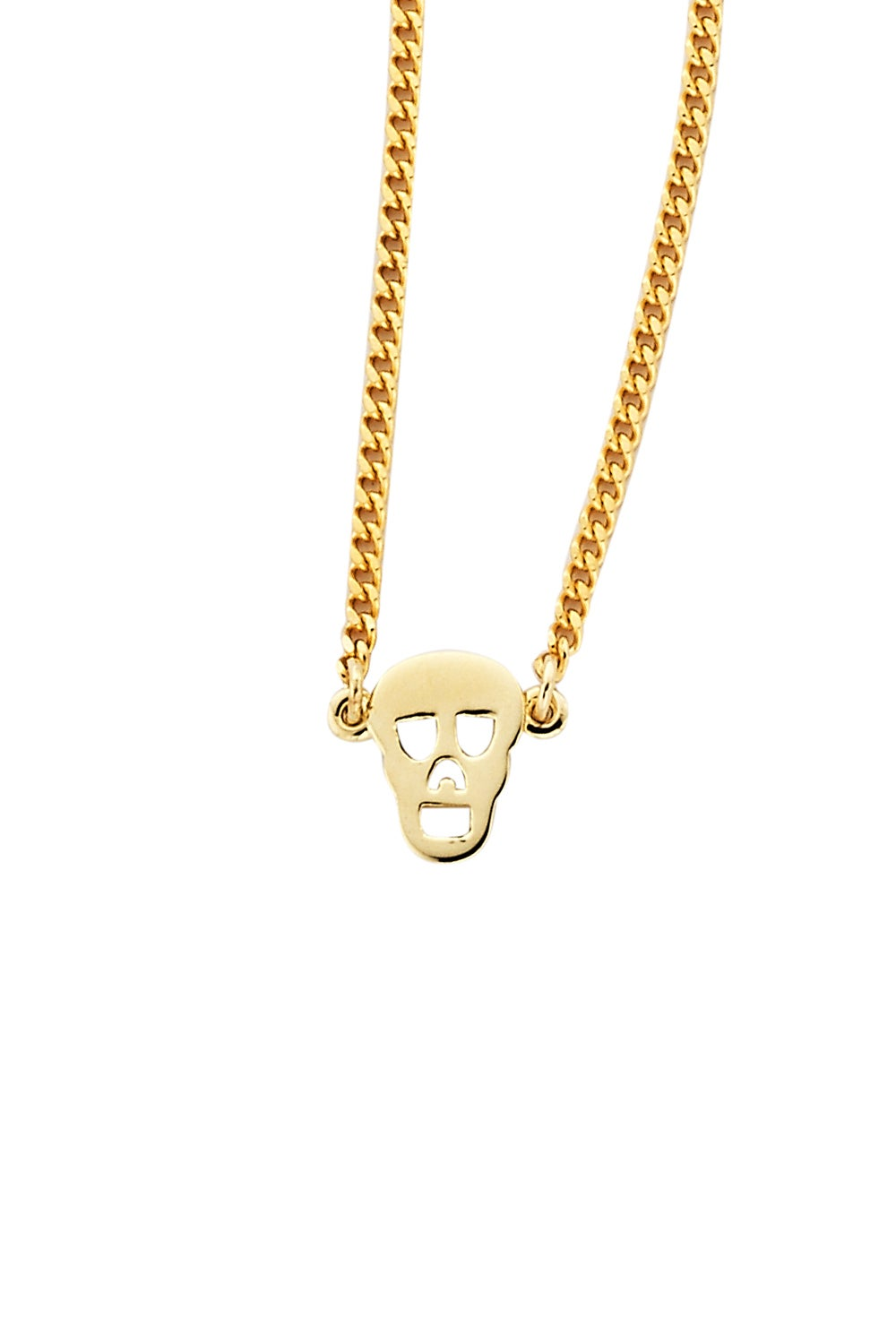 Mini Skull Necklace Gold