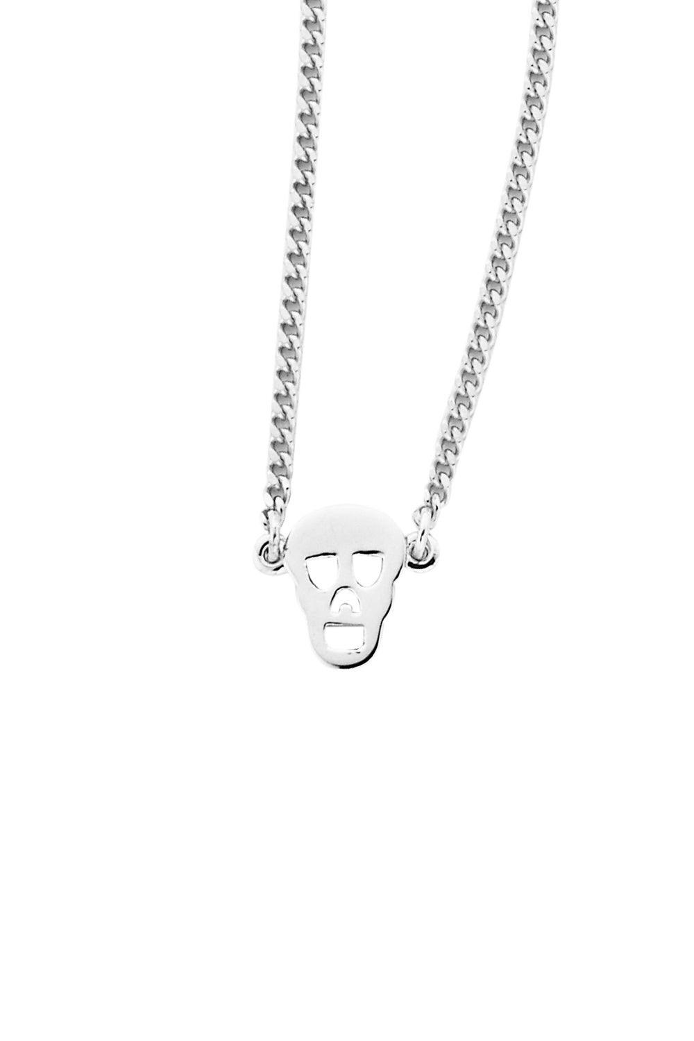 Mini Skull Necklace Silver